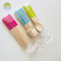 High quality private disposable wooden cutlery pack with quality guarantee