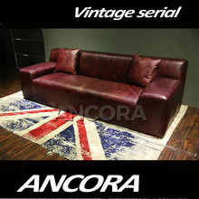 Simple design 3 seater vintage chesterfield sofa red A157
