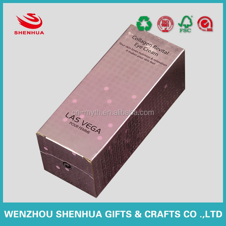 rectangel and recycled cosmetic paper box with competitive price