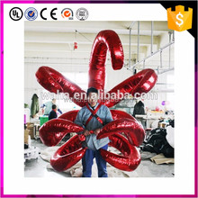 hot selling shining red inflatable wings costume for stage performance