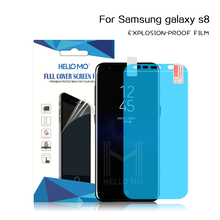 New product 1200g glue soft explosion-proof film custom logo s8 screen protector for Samsung Galaxy S8
