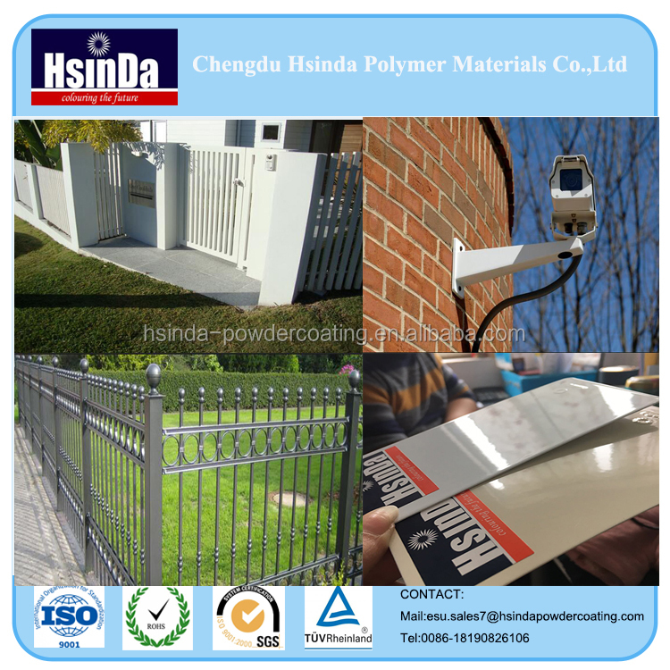 Outdoor decorative fence thermosetting weather resistance epoxy polyester powder coating