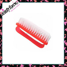 Red plastic bristle nail cleaning nail scrub brush