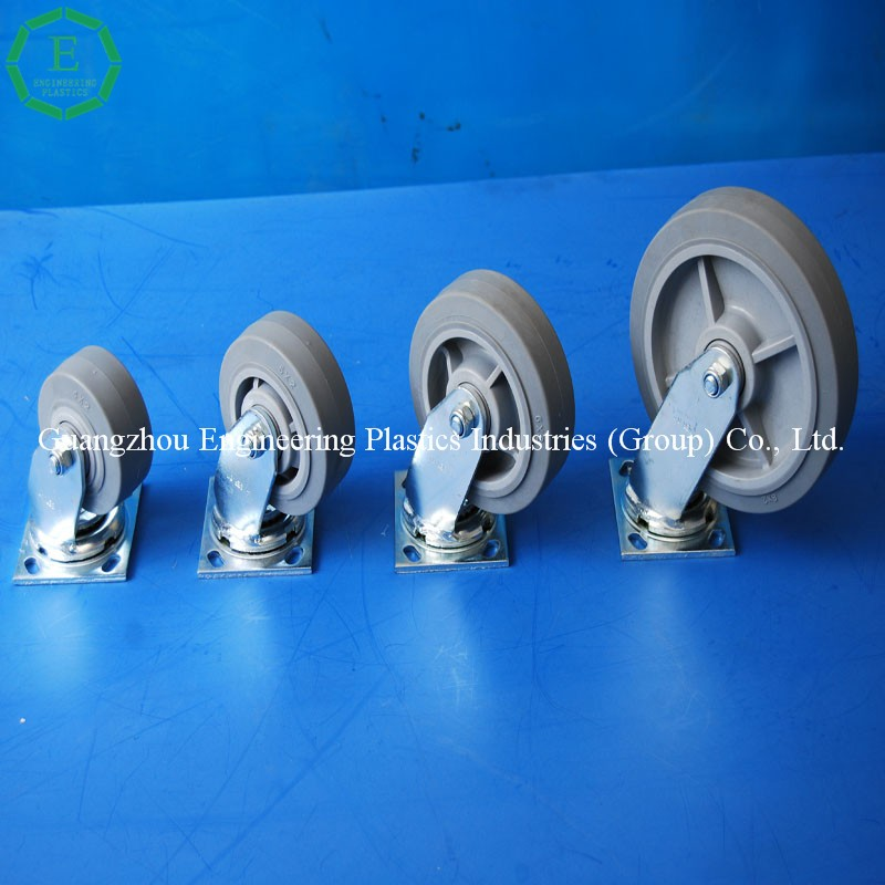 High quality light duty nylon rubber caster wheels for chairs