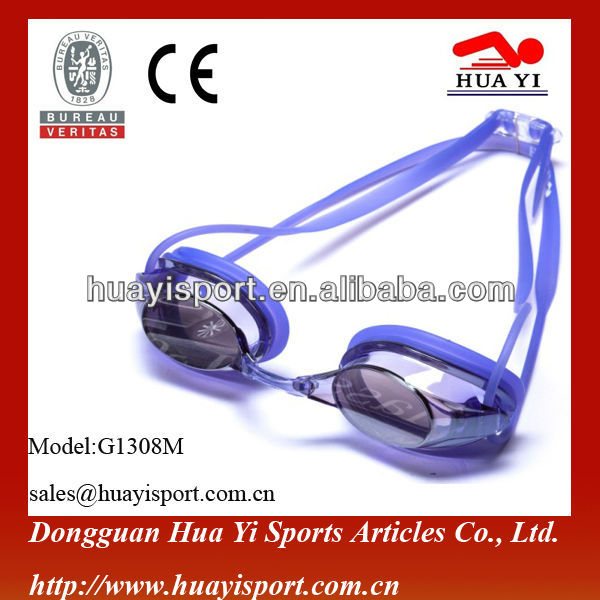 Durable Mirror coated sicone get swim goggle