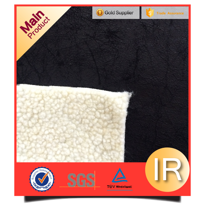 composite material plush fur suede fabric for winter garment