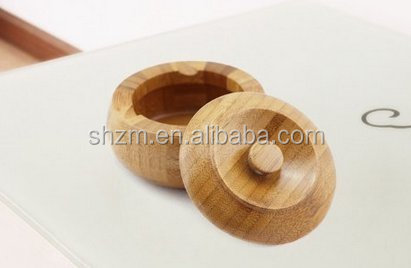 Bamboo ashtray with lid creative ashtray with cover bamboo ash Cigar Cigarette Tobacco holder