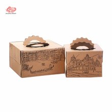 Pink cardboard wedding cake box design cake packaging