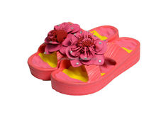 Popular Beach high wedge flower decor slippers, fashional open toe style