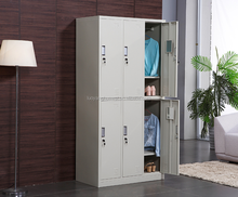 Facroty Sale 6 Doors Storage Steel cabinet clothes Locker godrej almirah designs with price