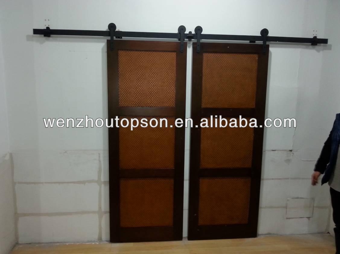 Rustique noir coulissante grange rail de porte portes id de produit 161839008 - Rail porte coulissante grange ...