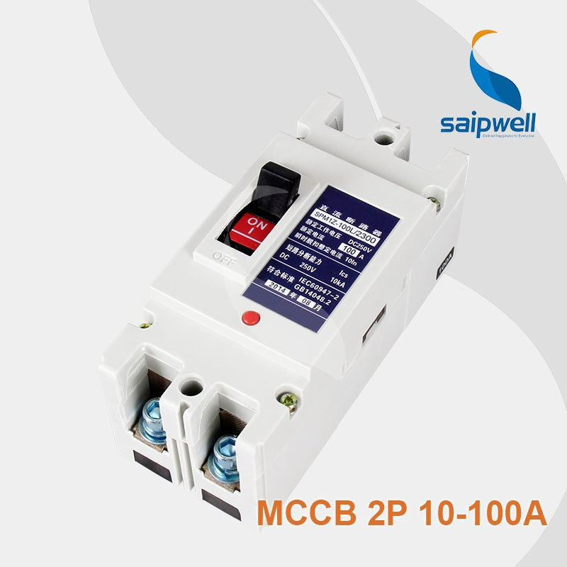 power Electrical circuit breaker 250V 125A DC MCCB
