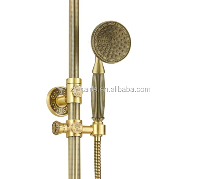 Antique Bronze/Gold/Oil Rubbed Bronze Effect Solid Brass Mixer Shower with Diverter