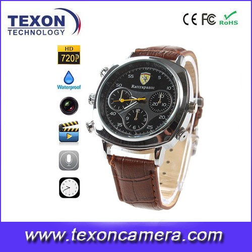 HD DVR Watch camera with waterproof 720P AVI M-JPEG JPG TE-908