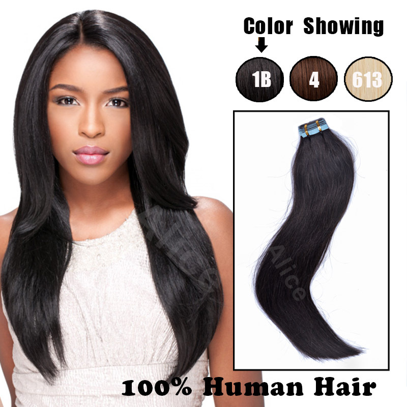 Wholesale price double drawn remy tape hair extensions,tape in hair extentions