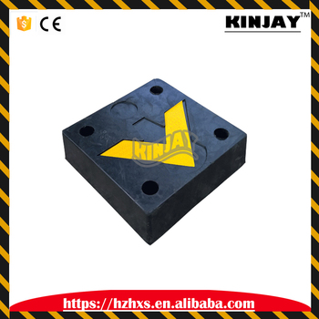 high quality 300 * 300 * 100mm traffic safety black crash block