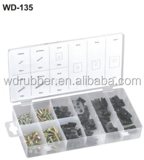 WD-135 most popular selling hardware kit 170Pc U spring Clip&Screw Assortment