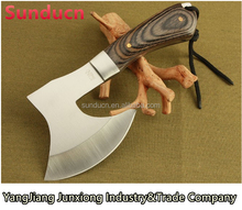 440 Stainless Steel Blade Wooden Handle Satin Finish Hatchet Outdoor AXE