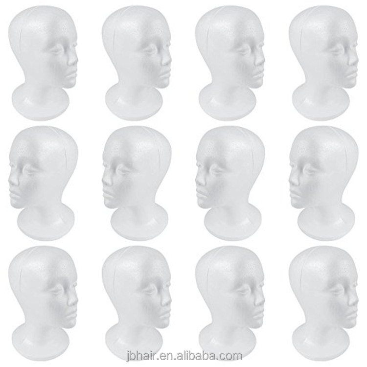Styrofoam head, Glasses Hat Display female Male Model Heads Styrofoam Wig Foam EPS Mannequin