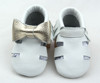 White & gold color baby shoes company fashion baby shoe collection