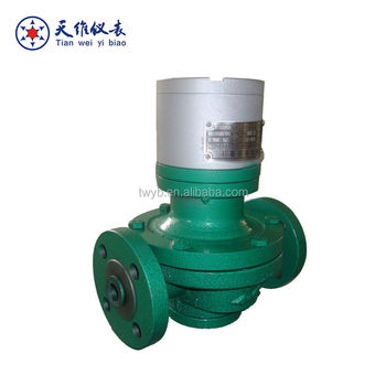 mechnical / digital cast iron oval gear transmitter pulse output flow meter