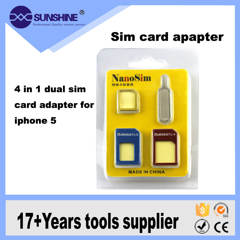 4 In 1 Dual Sim Card Adapter For Iphone 5