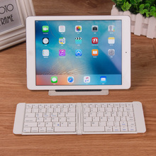 Ultra Portable Bluetooth Folding Keyboard for Android, iOS, Windows, OS X with Included Protective Case / Tablet Stand