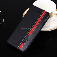 Contrast color Fashion PU Leather Wallet Flip Mobile Phone Case Cover For Lenovo A706