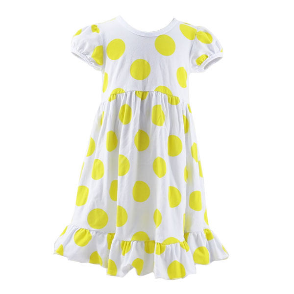 Wholesale 2017 summer newest hand made baby girl dress hot sale OEM short sleeve ruffle polka dot smock dress easter dress