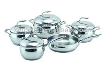 9pcs apple stainless steel Cookware Set stainless steel pots and pans induction cooker (XM-4001CS)