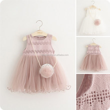 Factory price summer baby girl vest dress tulle dress girl girl kids clothes