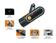 Portable Crank Dynamo Flashlight Radio, with Mobile phone Charger Function XLN-704