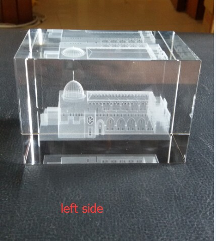 Factory Wholesale 3D Laser Engravingal Al Aqsa Mosque Islamic Muslim Religious Gifts