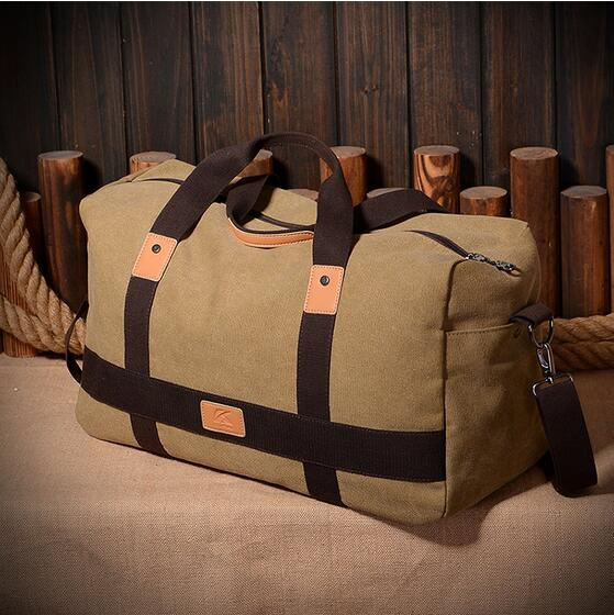 new style canvas tote shoudler travelling bags for man