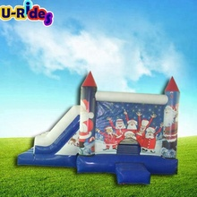 PVC Christmas inflatable combo bouncer inflatable bounce houses with slide kids mini bounce house for party