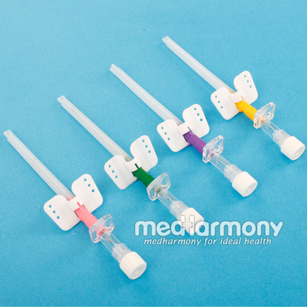 types of iv cannula with wing or pen type