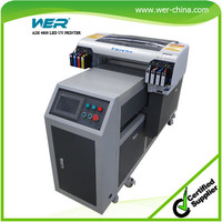 2016 New arrival A2 WER-EH4880UV led printer,plastic card printing machine