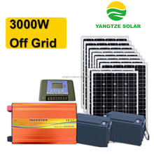 easy installation kit solar 3000w with battery backup