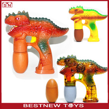 Wholesale B/O Dinosaur Flashing Lights Music Bubble Gun Toys for kids