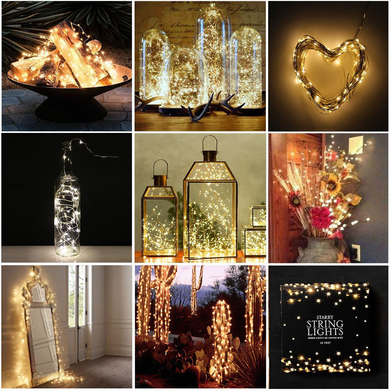 Best selling Festival decorative free lead holiday living Christmas hanging individual battery operated mini string led lights