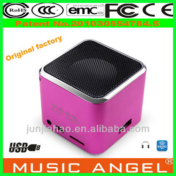 New for 2014 Music Angel JH-MD07 price for music angel sound cube speaker