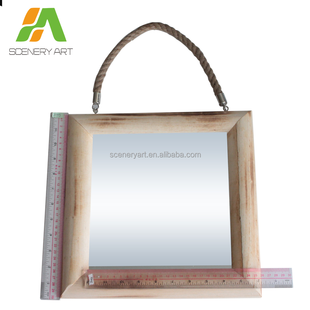 Most popular wooden frame entry mirror