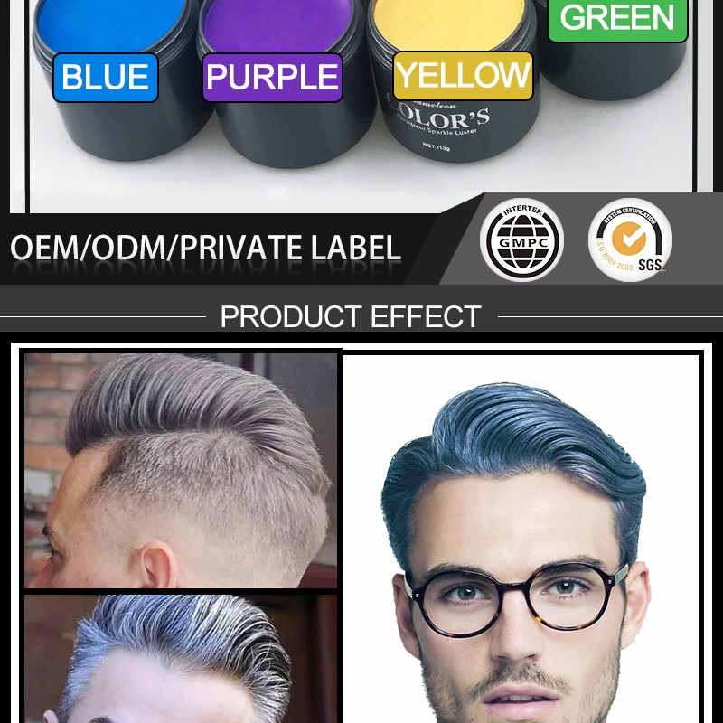 China Factory Hair Styling Products Fashion Hair Color Wax For Men ...