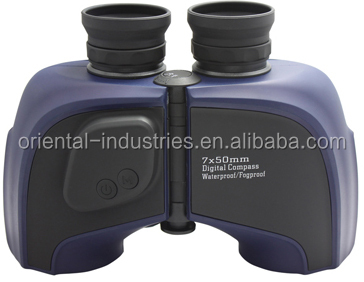 Sports Binoculars Waterproof 7x50 with digital compass,New Product Aluminum Binocular+digital Thermometer Made In China