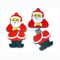 Christmas Gift Santa Claus Shape PVC USB Flash Disk, Drive, Stick