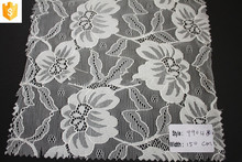 pretty design stretch lady lace fabric,fancy flower elastic lace fabric