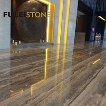 Polished Travertine Marble Slab Cheap Silver Grey Travertine for sale