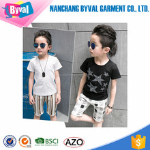 The boy short sleeve T-shirt Children's clothing with stars printing custom printing wholesale