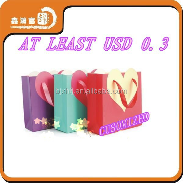 wedding gift art paper bags for candy customized