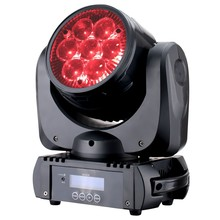 disco LED Moving Head aura machine Wash stage lights 7pcs*10W mini RGBW DMX Special Effects aura zoom led dj light